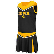 Girls Youth Colosseum Black Iowa Hawkeyes Aerial Cheer Set