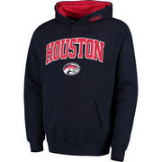 Men's Navy Houston Cougars Arch & Logo Pullover Hoodie