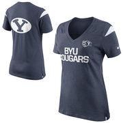 Nike BYU Cougars Women's Fan Top T-Shirt - Navy