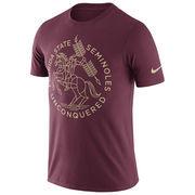 Men's Nike Garnet Florida State Seminoles Enzyme Washed Campus Elements T-Shirt