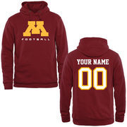 Minnesota Golden Gophers Personalized Football Pullover Hoodie - Garnet