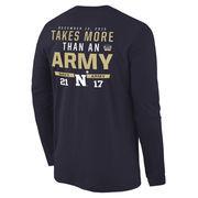 Men's Navy Navy Midshipmen vs. Army Black Knights 2015 Score Long Sleeve T-Shirt