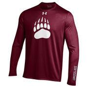 Men's Under Armour Maroon Montana Grizzlies MVP Logo Tech Long Sleeve T-Shirt