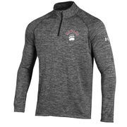 Men's Under Armour Heather Black Montana Grizzlies 1/4 Zip Long Sleeve Tech T-Shirt