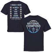 Youth Navy Villanova Wildcats 2016 NCAA Men's Basketball National Champions Schedule T-Shirt
