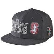 Men's Nike Anthracite Stanford Cardinal 2016 Rose Bowl Champions Players Locker Room Snapback Adjustable Hat