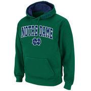 Men's Stadium Athletic Green Notre Dame Fighting Irish Arch & Logo Pullover Hoodie