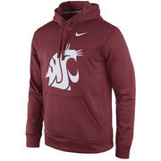 Men's Nike Crimson Washington State Cougars Practice Performance Hoodie