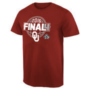 Men's Crimson Oklahoma Sooners 2016 NCAA Men's Basketball Tournament Final Four Bound Charge T-Shirt