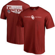 Men's Crimson Oklahoma Sooners vs. Texas Longhorns 2016 Score T-Shirt