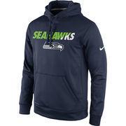 Men's Nike College Navy Seattle Seahawks Kick Off Staff Performance Pullover Hoodie