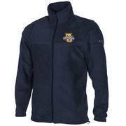 Columbia Marquette Golden Eagles Flanker Full Zip Fleece Jacket - Navy Blue