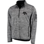 Men's G-III Sports by Carl Banks Heather Gray Iowa Hawkeyes Fast Pace Half-Zip Pullover Jacket