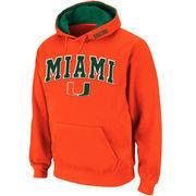 Men's Stadium Athletic Orange Miami Hurricanes Arch & Logo Pullover Hoodie