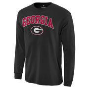 Men's Black Georgia Bulldogs Campus Long Sleeve T-Shirt