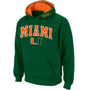 Men's Stadium Athletic Green Miami Hurricanes Arch & Logo Pullover Hoodie