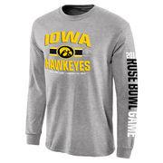 Men's Gray Iowa Hawkeyes 2016 Rose Bowl Bound 3rd Down Long Sleeve T-Shirt