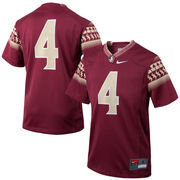Youth Nike #4 Garnet Florida State Seminoles Replica Football Jersey