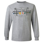 Men's Gray West Virginia Mountaineers vs. Miami Hurricanes 2016 Russell Athletic Bowl Dueling Long Sleeve T-Shirt