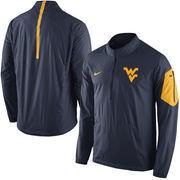 Men's Nike Navy West Virginia Mountaineers 2015 Football Coaches Sideline Half-Zip Wind Jacket