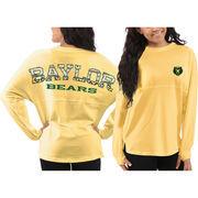 Women's Baylor Bears Yellow Aztec Sweeper Long Sleeve Oversized Top
