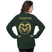 Women's Green Colorado State Rams The Big Shirt Oversized Long Sleeve T-Shirt