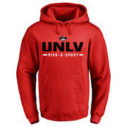 Men's Red UNLV Rebels Custom Sport Pullover Hoodie
