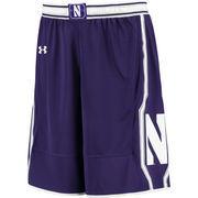 Men's Under Armour Purple Northwestern Wildcats Replica Basketball Shorts