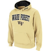 Men's Stadium Athletic Gold Wake Forest Demon Deacons Arch & Logo Pullover Hoodie