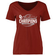 Women's Crimson Oklahoma Sooners 2016 NCAA Women's Gymnastics National Champions T-Shirt