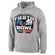 Mens Boise State Broncos vs. Arizona Wildcats Gray 2014 Fiesta Bowl Dueling Pullover Hoodie