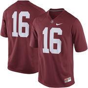 Men's Nike Crimson Alabama Crimson Tide #16 Game Football Jersey