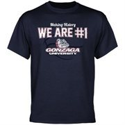 Gonzaga Bulldogs We Are #1 T-Shirt - Navy Blue