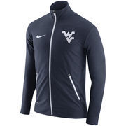 Men's Nike Heather Navy West Virginia Mountaineers 2016 Elite Player Dri-FIT Touch Full-Zip Jacket