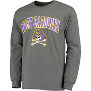 Men's Fanatics Branded Charcoal East Carolina Pirates Campus Long Sleeve T-Shirt