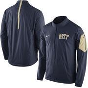 Men's Nike Navy Pitt Panthers 2015 Football Coaches Sideline Half-Zip Wind Jacket
