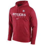 Men's Nike Scarlet Rutgers Scarlet Knights Circuit Football Pullover Performance Hoodie
