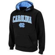 Men's Stadium Athletic Black North Carolina Tar Heels Arch & Logo Pullover Hoodie