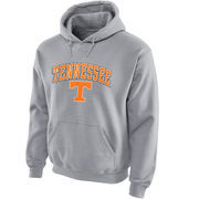 Men's New Agenda Gray Tennessee Volunteers Midsize Arch Over Logo Hoodie