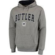Men's Gray Butler Bulldogs Arch & Logo Pullover Hoodie