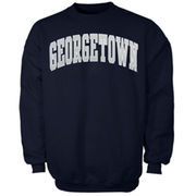 Georgetown Hoyas Bold Arch Crew Sweatshirt - Navy Blue
