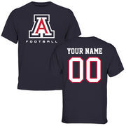 Men's Navy Arizona Wildcats Personalized Football T-Shirt