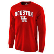Men's Fanatics Branded Red Houston Cougars Campus Long Sleeve T-Shirt