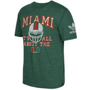 Men's adidas Green Miami Hurricanes Local Tri-Blend T-Shirt
