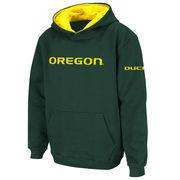 Youth Stadium Athletic Green Oregon Ducks Big Logo Pullover Hoodie
