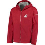 Men's Columbia Crimson Washington State Cougars EvaPOURation Full-Zip Jacket