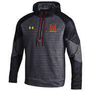 Men's Under Armour Black Maryland Terrapins Survivor Quarter-Zip Performance Hoodie