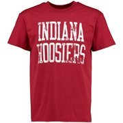 Men's Cardinal Indiana Hoosiers Straight Out T-Shirt