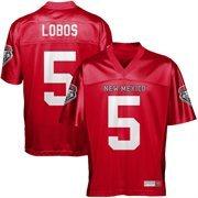 New Mexico Lobos #5 Fan Football Jersey - Crimson