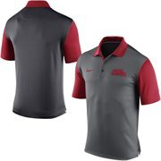 Men's Nike Gray Ole Miss Rebels 2015 Coaches Preseason Sideline Polo